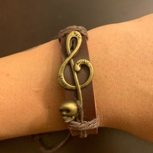 Jewelry - Music Note and Skull Bracelet